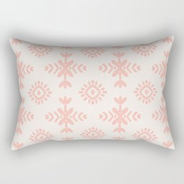 Floral Wings in Blush Peach Rectangular Pillow