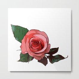 Just one Rose Metal Print