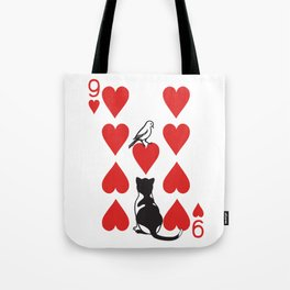 Clipped Wings Deck: The 9 of Hearts Tote Bag
