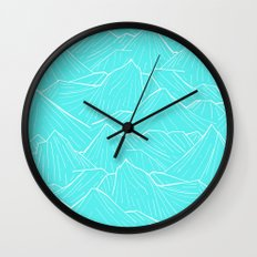 The Cold Blue Wall Clock