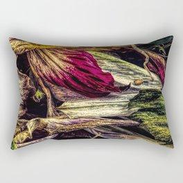Dried Flower Petals Rectangular Pillow