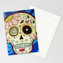 Calavera in Blue Stationery Cards