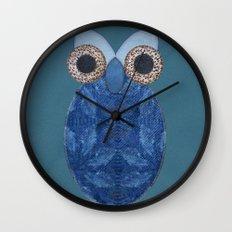 The Denim Owl #02 Wall Clock