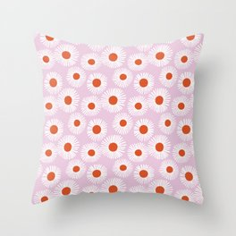 Daisy Starbusrt Throw Pillow