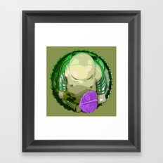 buddha [green] Framed Art Print