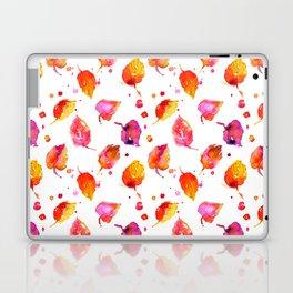 Watercolor fall linden leaves Laptop & iPad Skin