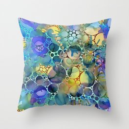 Dots on Painted Background 3 Throw Pillow
