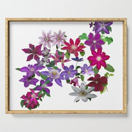 Cascade of Clematis Serving Tray