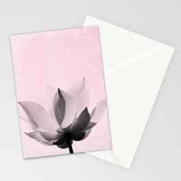 Lotus Flower | Pink Background Stationery Cards