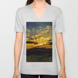Fall into the Looking Glass Unisex V-Neck