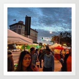 City 4: Culver City Farmer's Market Art Print