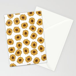 lil' anxious sunflowers Stationery Cards