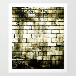 All The Bricks In The Wall Art Print