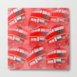 Red London Buses Metal Print