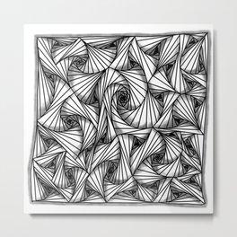 three-sided figures Metal Print