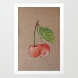 Shy cherries Art Print