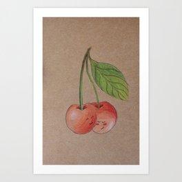 Shy cherries Art Print