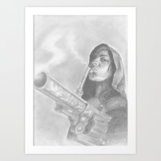 smoking guns Art Print