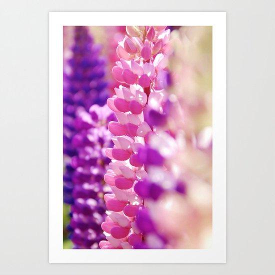 Pink & Lavender FlowerS Art Print