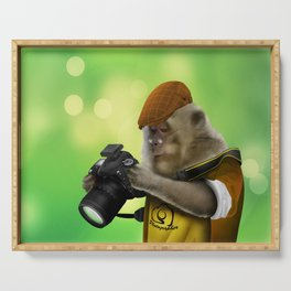Photographer of the apes Serving Tray