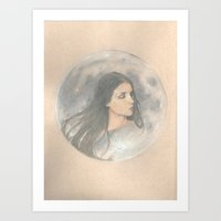 She Hung the Moon Art Print