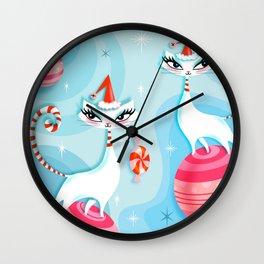 Mod Kitty Christmas Wall Clock