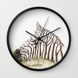 Zebra Tree Illusion Wall Clock