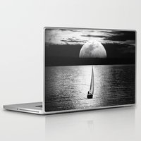 the moon Laptop & iPad Skins featuring Moon by haroulita