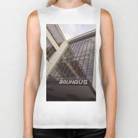bauhaus Biker Tanks featuring Bauhaus by Nat Alonso