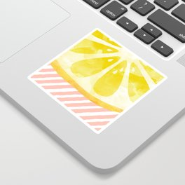 Lemon Abstract Sticker