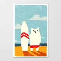 surf Canvas Prints featuring Surf! by Yetiland
