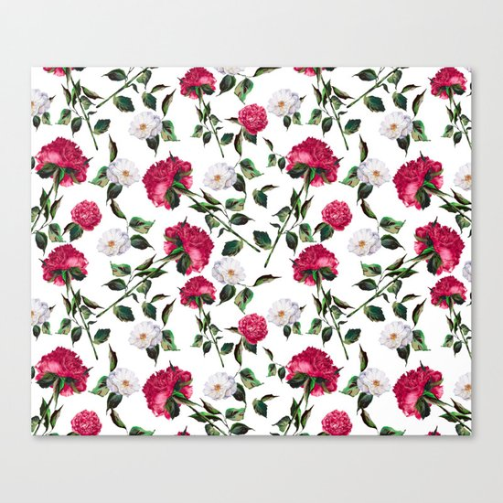 Summer Floral Pattern Canvas Print