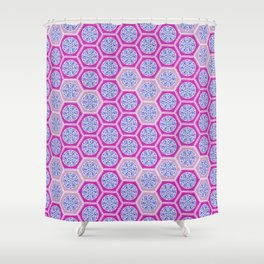 Hexagonal Dreams - Pink & Purple Shower Curtain