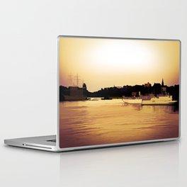 Golden beauty on water Laptop & iPad Skin