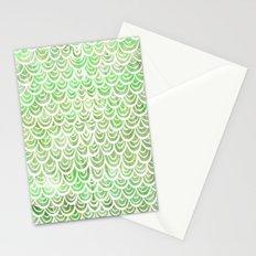 Watercolor Mermaid Peridot Stationery Cards