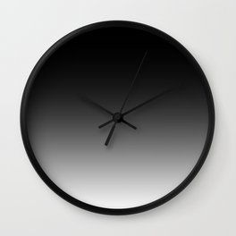 Black to White Wall Clock