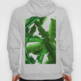 tropical banana leaves pattern Hoody