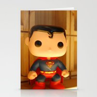 man of steel Stationery Cards featuring Man of Steel by annaXsalt