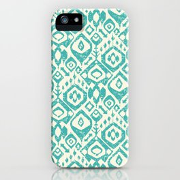 lezat turquoise iPhone Case