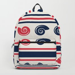 Blue Pink Sea Patterns Backpack