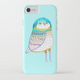 Blue Owl. iPhone Case