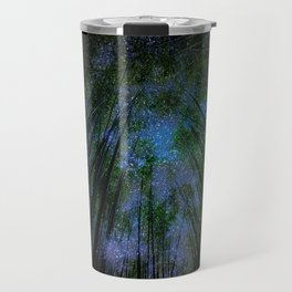 Starry Night Fantasy Bamboo Forest Travel Mug