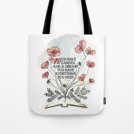 Cicero - A Garden & A Library Tote Bag