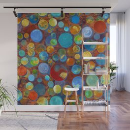 Circles touched by gold Wall Mural