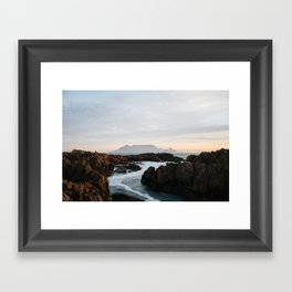 Waterway to Table Mountain Framed Art Print