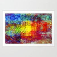 Abstract Painting Squares Art Print