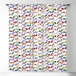 Off to the Horse Races Jockey Silk Pattern Blackout Curtain