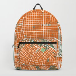 Buenos Aires city map orange Backpack