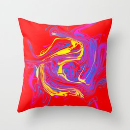 swirls on red Throw Pillow