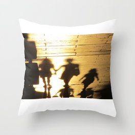 Chasing Ghosts Throw Pillow